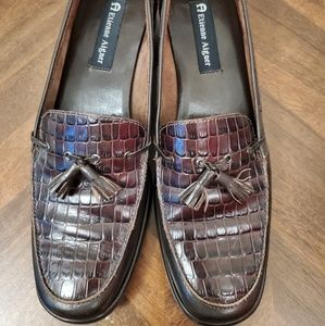 Etienne Aigner e- Glance leather loafers 9m